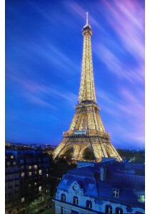 Eiffel Tower At Dusk - Pyramid International Poster (61 cm X 91.5 cm)