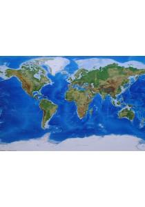 Framed Poster: World Map (Planetary Visions) - GB Eye Poster (61 cm X 91.5 cm)