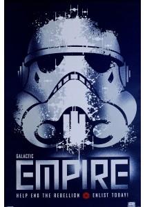 Star Wars (Galactic Empire - Help End Rebellion, Enlist Today) - Pyramid International Poster (61 cm X 91.5 cm)