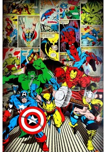 Framed Poster: Here Come The Heroes (Marvel Comics) - Pyramid International Poster (61 cm X 91.5 cm)