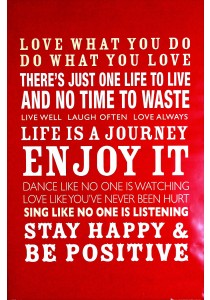 Framed Poster: Life Quotes - GB Eye Poster (61 cm X 91.5 cm)
