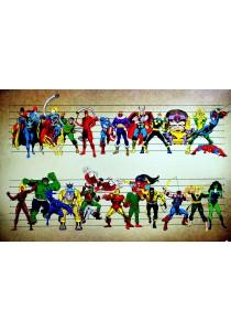 Marvel Comics Characters Line Up - Pyramid International Poster (61 cm X 91.5 cm)