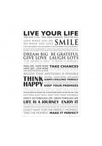 Live Your Life - GB Eye Poster (61 cm X 91.5 cm)