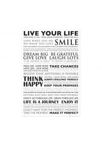 Framed Poster: Live Your Life - GB Eye Poster (61 cm X 91.5 cm)