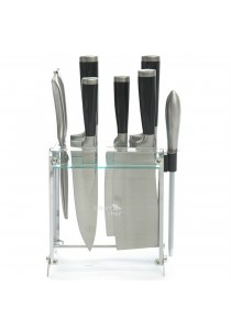 Smart Chef Stainless Steel Knife Set (Black)