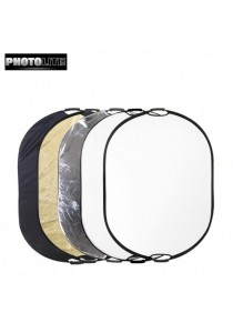 Photolite 80 X 120cm 5-in- Light Reflector with Bag - Translucent, Silver, Gold, White