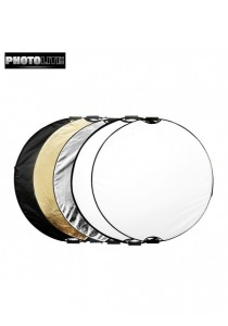 Photolite 110cm 5-in-1 Light Reflector with Bag - Translucent, Silver, Gold, White