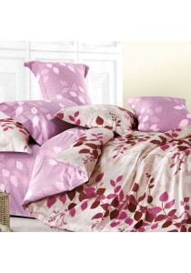 Essina 100% Cotton 500TC Mataro Collection Fitted Bed Sheet Set + Comforter Pink Aura - Queen