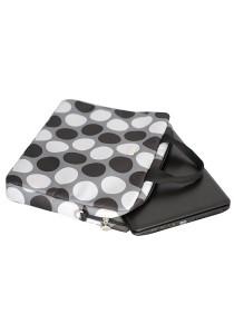 "Gin & Jacqie Portable Savannah Laptop Bag Black Polka Dot 15"" G201MBPD"