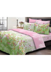 Essina 100% Cotton 620TC Fitted Bed Sheet set Primerose - Queen