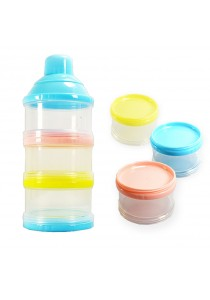 3 Layer Portable Baby Food Milk Powder Container and Dispenser Bottle Travel Storage Box