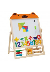 Wooden 2 In 1 Magnetic Drawing Board for Children - Bear