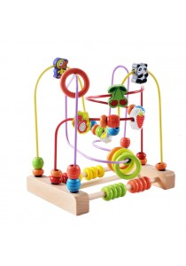 Baby Wooden Beads Animal and Fruits Giant Track Maze Toy