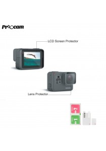 Proocam PRO-F209 Best Material Film Lens and LCD Screen Protector for Gopro Hero 5