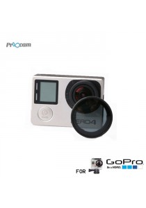 Proocam Pro-F016C CPL Filter Lens Circular Shape Polarized Filter for Gopro Hero 4/3+3