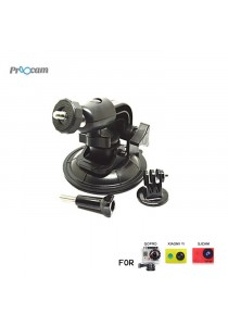 Proocam Pro-J070 Suction Cup with Ball Head Tripod Mount for Gopro Hero, SJCAM, MI YI Action Camera