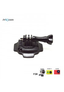 Proocam Pro-J092 Mount for Helmet 360-degree Rotation with Lock for Gopro Hero , SJCAM , MI YI