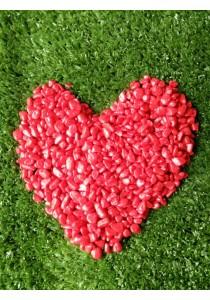 Coated Stone Garden Landscape Decor (+- 1 Cm Red Color) - 2kg