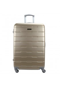 "Royal McQueen Hard Case 4 Wheels Spinner Light Weight 24"" Luggage - QTH6910 (Gold)"