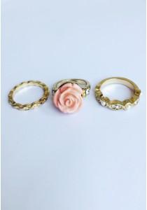 G. Mixed Rose Set Rings