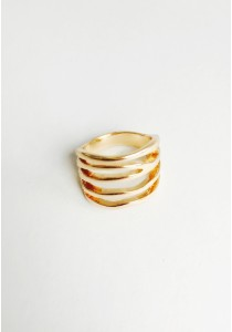 G. Hollow Edgy Ring