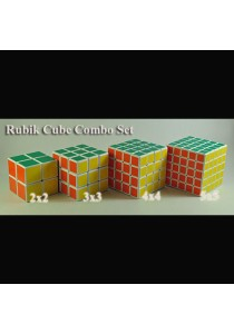 (Combo Set) Professional Rubik's Cube Puzzle  - 2x2, 3x3, 4x4, 5x5