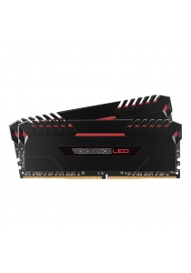 Corsair Vengeance LED Long Dimm DDR4 16GB - 2666MHZ Red