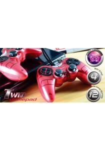 CLiPtec  RZG332 PC USB Dual Vibration Twins Gamepad (Red)