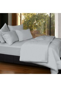 Cozzi Rainbow Microfiber Plush Fitted Bedsheet set with Comforter Grey - Queen