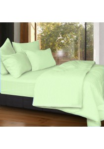 Cozzi 400TC Microfiber Plush Fitted Bedsheet set + Quilt Cover Rainbow Green - Queen