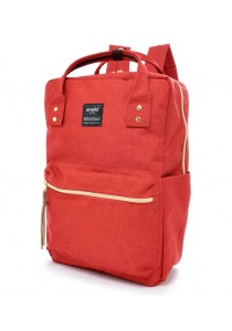 100 % Authentic Anello Square Backpack (Red)