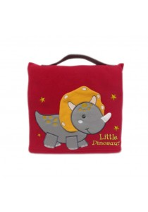 Cute Pillow Blanket for Baby and Kids Red Little Dinosaur