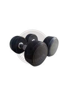 Fitness Gym Rubber-Coated Round Fix Dumbbell 30KG (2 units)