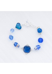 Royal Beauty Crystal Bracelet (Blue) Handmade by Shirleen Jeweliciouss