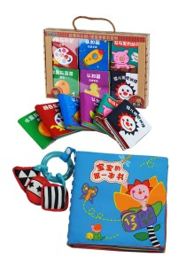 6 Mini Cloth Books - Baby's First Book 0-3 Years Old [BKM02+BKM06]
