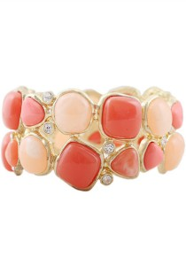 Pink Color Stretch Alloy Bracelet 6cm - BC169