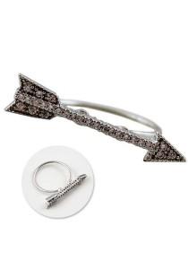 Silver Color Arrow Alloy Ring - R16
