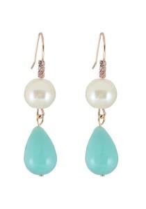 Multicolor Water Droplets Alloy Earrings 5.4cm - ER234