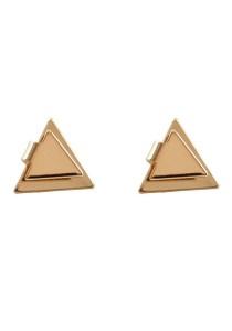 Gold Color Triangular Alloy Earrings 1.1cm - ER238