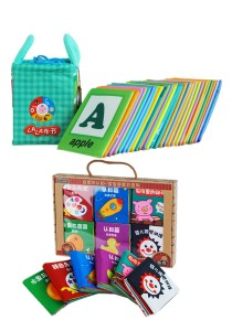 Cloth Alphabet Learning Card 0-3 years old Cum 6 Mini Cloth Books (BKM01+BKM02)