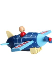 Children Wooden Removable Magnet Aircraft Toys For Kids -BKM35-Airplane