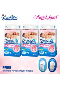 Mamypoko Diapers Open Air Fit Tape S84x3 + PokoChan Pillow (Random) *While stocks last*