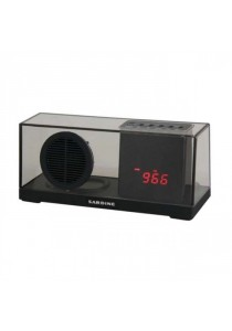 Sardine SDY033 Portable Bluetooth 2.1 + EDR Stereo Speaker with FM Radio Built-in Mic LED Time Display - Black
