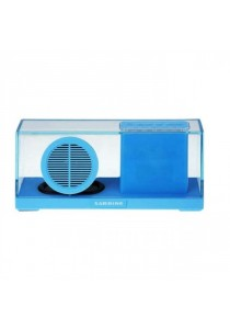 Sardine SDY033 Portable Bluetooth 2.1 + EDR Stereo Speaker with FM Radio Built-in Mic LED Time Display - Blue