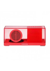 Sardine SDY033 Portable Bluetooth 2.1 + EDR Stereo Speaker with FM Radio Built-in Mic LED Time Display - Red