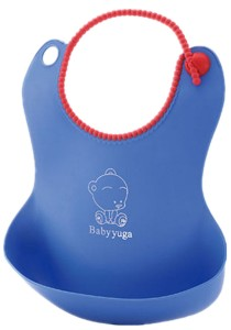 Silicone Waterproof Soft Baby Bibs - BKM24 - Blue