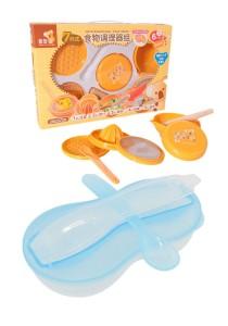 Japan Hito Multifunctional Baby Food Maker Set Cum New Peanut Shape Feeding Bowl With Spoon - CDH31200+BKM16 (Blue)