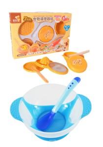 Japan Hito Multifunctional Baby Food Maker Set Cum Baby Food Supplement Temperature Sensor Sucker Bowl - CDH31200+BKM14 (Blue)