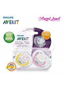 Philips Avent Free Flow Soother 6-18m twin pack scf180/28