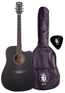 Mukita by BLW 41 Inch Acoustic Guitar Package 1 SD410 (Black)